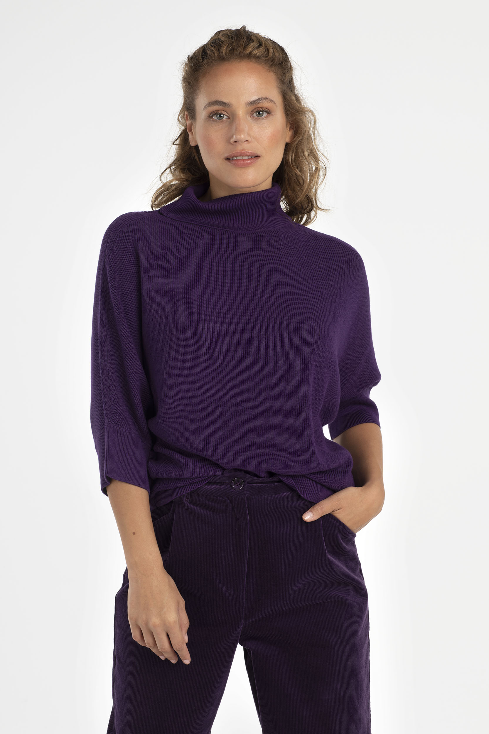 BATWING PULLOVER PFLAUME