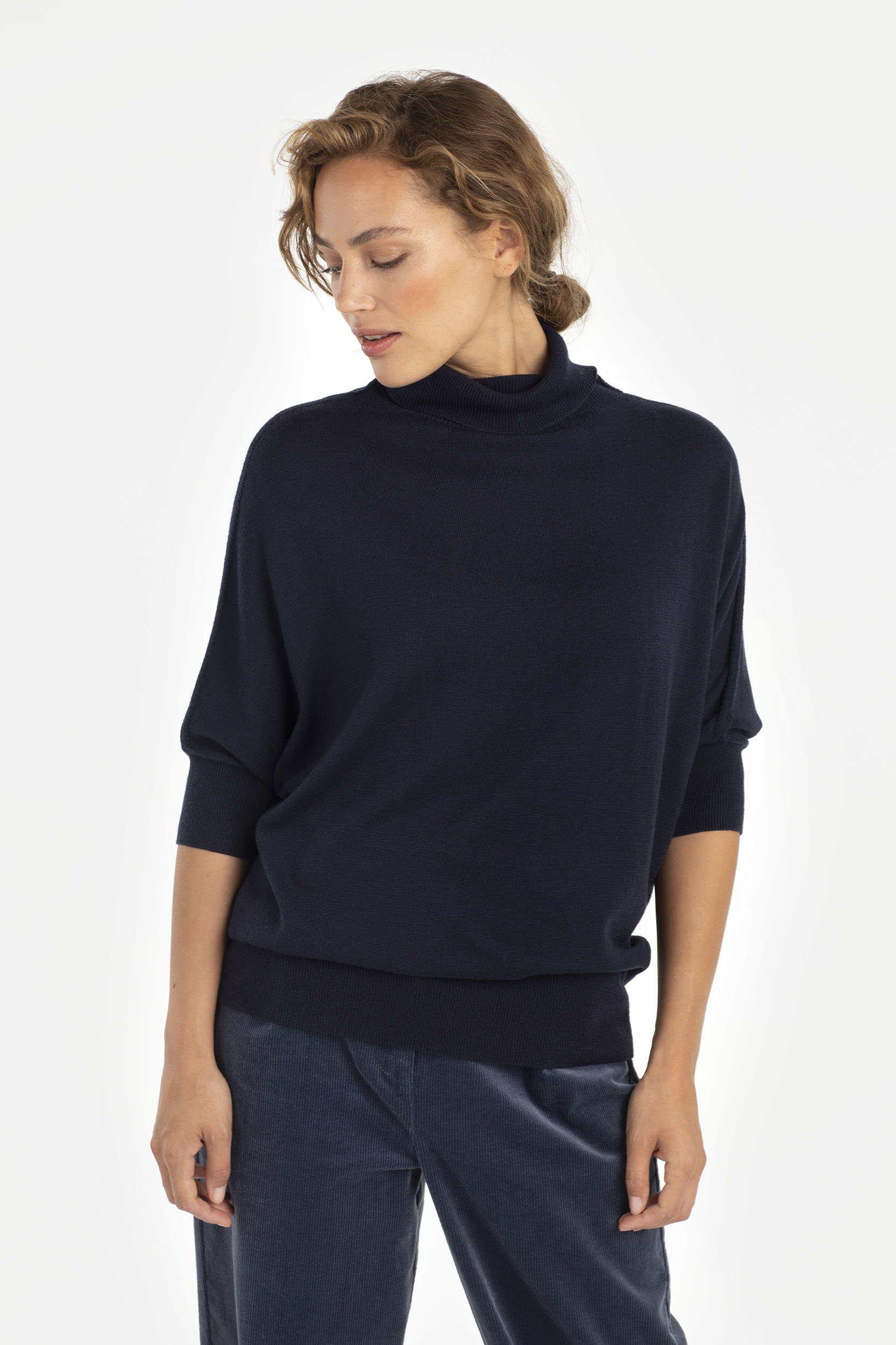 BATWING PULLOVER - NACHTBLAU